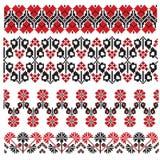 Ukrainian embroider flower Stock Photo