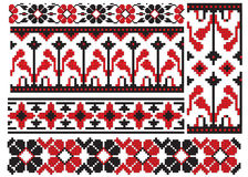 Ukrainian embroider flower Royalty Free Stock Images