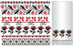 Ukrainian embroider flower elements Royalty Free Stock Photography