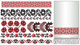 Ukrainian embroider flowers Royalty Free Stock Photos
