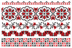 Ukrainian embroider flowers Stock Photography