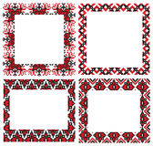 Ukrainian embroider frames Royalty Free Stock Image