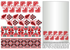 Ukrainian embroider grapes. There is a scheme of ukrainian pattern for embroidery Royalty Free Stock Photography
