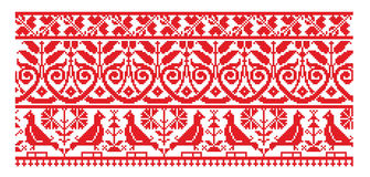 Ukrainian embroider line pattern Royalty Free Stock Photo