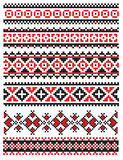 Ukrainian embroider napkin pattern Royalty Free Stock Photos