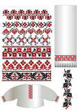 Ukrainian embroider pattern Stock Images