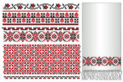 Ukrainian embroider pattern Royalty Free Stock Photo