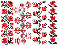 Ukrainian embroider pattern element Royalty Free Stock Images