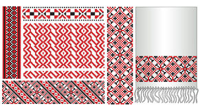 Ukrainian embroider pattern element Royalty Free Stock Photo