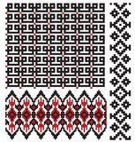 Ukrainian embroider pattern texture Stock Photography