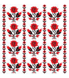 Ukrainian embroider rose pattern Stock Photo