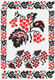 Ukrainian embroider snowballtree Royalty Free Stock Photos