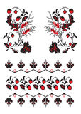Ukrainian embroider strawberry pattern Royalty Free Stock Photography
