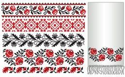 Ukrainian embroider towel Stock Photo