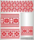 Ukrainian_embroider_towel_shirt_petern Stock Image