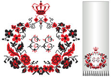 Ukrainian embroider wreath Stock Photos