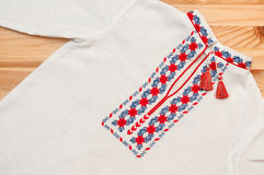 Ukrainian embroidered shirt Royalty Free Stock Images