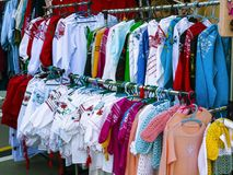 Ukrainian embroidered shirts. National clothes Ukrainian embroidered shirts stock image