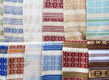 Ukrainian embroidered towels - rushnyk Stock Photos