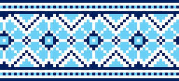 Ukrainian embroidery. Vector illustration of Ukrainian embroidery ornaments with geometric motives Royalty Free Stock Image