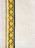 Ukrainian embroidery. Ukrainian national embroidery in yellow and black color royalty free stock photos