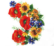 Ukrainian embroidery Royalty Free Stock Images