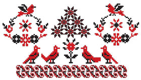Ukrainian embroidery birds Royalty Free Stock Photos