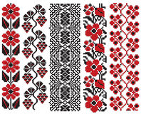 Ukrainian embroidery flower elements Royalty Free Stock Images