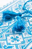 Ukrainian embroidery a fragment of male shirts Stock Photo