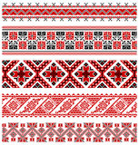 Ukrainian embroidery geometric collection #04 Stock Image