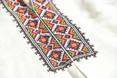 Ukrainian embroidery. National Ukrainian shirt with embroidery Royalty Free Stock Photos