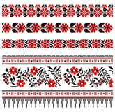 Ukrainian embroidery ornament Royalty Free Stock Images