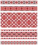 Ukrainian embroidery ornament Stock Photo