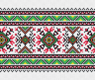 Ukrainian embroidery pattern Stock Photo