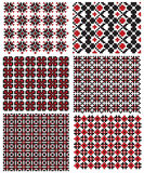 Ukrainian embroidery texture. There is a scheme of ukrainian pattern for embroidery Stock Photography