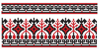 Ukrainian embroidery texture element Royalty Free Stock Image