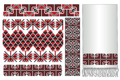 Ukrainian embroidery towel Stock Images