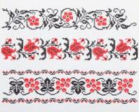 Ukrainian embroidery, towel Stock Photos