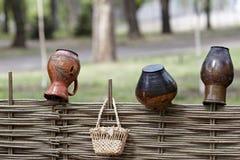 Ukrainian ethnic hand-made articles Stock Image
