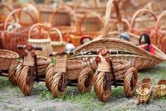 Ukrainian ethnic hand-made articles Royalty Free Stock Photo