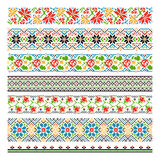 Ukrainian ethnic national border patterns for Royalty Free Stock Photos