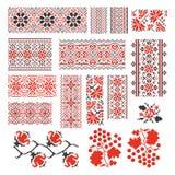 Ukrainian ethnic national seamless patterns vector royalty free illustration