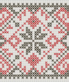 Ukrainian ethnic ornament - cross-stitch Stock Image