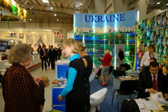 Ukrainian exhibition at TT Warsaw Royalty Free Stock Photo