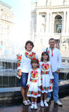 Ukrainian  family Stock Photography