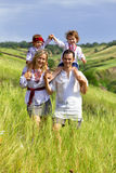 Ukrainian family Royalty Free Stock Image