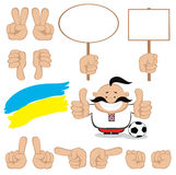 Ukrainian fan Stock Image