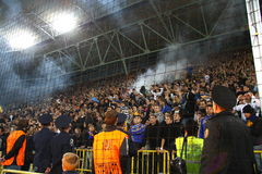 Ukrainian fans Stock Photo