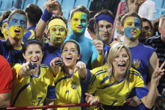 Ukrainian fans Stock Photos