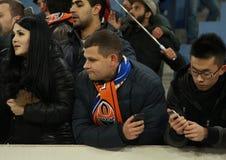 Ukrainian fans Royalty Free Stock Photography